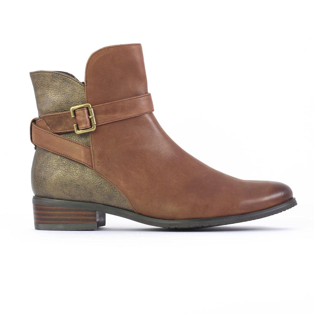 Boots femme cuir